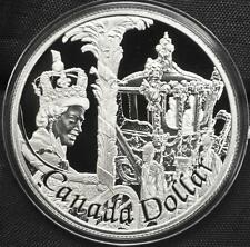 2002 Canada $1 Proof Silver Dollar - Queen Elizabeth Golden Jubilee