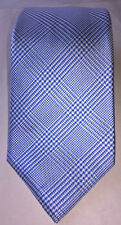 Charles Tyrwitt NWT Blue Silk Classic Prince Of Wales Check Skinny Mens Necktie