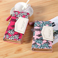 Women Leather Wallet Long Card Holder Handbag Phone Flower Bag Clutch Purse