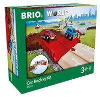 33819 BRIO Car Racing Kit Wooden Train Railway Transport Children Toddler Age 3+