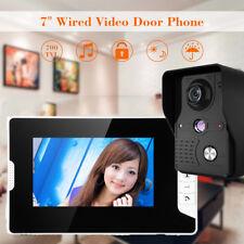 """7"""" LCD Video Monitor Door Phone Doorbell Entry Intercom System IR-CUT Camera"""