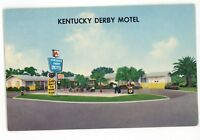 Kentucky Derby Motel Horse Racing Sign Saint ST PETERSBURG FL Vintage Postcard 2