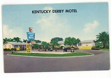 Kentucky Derby Motel Horse Racing Sign Saint ST PETERSBURG FL Vintage Postcard 2