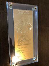 Colorado Rockies Golden Ticket: Inaugural Season Opening Day 1993