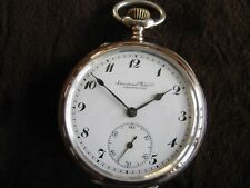 IWC Schaffhausen Silver 800 & Goldplated 15 Jewels Swiss Antique Pocket watch