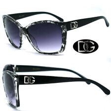 Nouveau Retro femmes lunettes de soleil - Transparent Black DG175