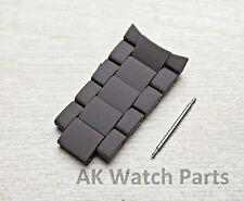 TOP 5 Grey & Black Links Fits Emporio Armani AR5950 spare strap/bracelet/band