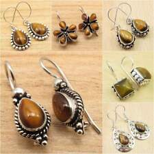Brown TIGER'S EYE ! 925 Silver Plated Many Styles, Many Shapes Earrings Jewelry