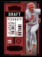 2020 Contenders Draft Ticket Red #35 Shohei Ohtani /99 - Los Angeles Angels