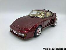 Porsche 911 Turbo Gemballa Avalanche met.-dunkelrrot   1:18 BOS
