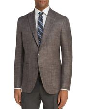 $749 Jack Victor 38 R Men'S Brown Two Tone Regular Fit Jacket Blazer Sport Coat