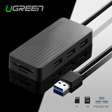 Ugreen 3 Ports USB 3.0 HUB SD Micro SD Card Reader For MacBook Laptop PC 5Gbps