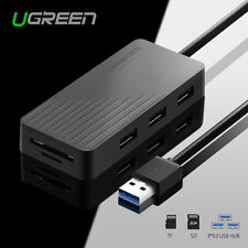 Ugreen 3 Ports USB 3.0 HUB with TF/SD Card Reader For MacBook Laptop PC 5Gbps