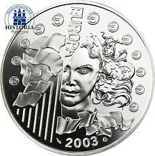 Frankreich 1,5 Euro 2003 Silber PP Europa Serie:  1. Jahrestag des Euro