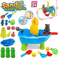 KIDS PIRATE SHIP SAND AND WATER TABLE SANDPIT BEACH GARDEN GIRL BOY PLAY TOY SET