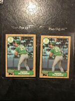 Lot Of 2 Mark McGwire Rookie 1987 Topps #366 RC Oakland Athletics Long Gone
