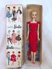 Original Vintage 1959 #3 Blonde Barbie doll RARE Blue eyeshadow & Factory Braid