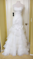 NWT KittyChen Faith Women's Size 8 Alabaster Floral Beaded Couture Wedding Gown