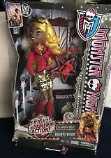 Monster High Frights Camera Action Hauntlywood Clawdia Wolf Doll NIB