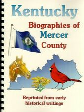 KY~MERCER COUNTY KENTUCKY 1888 BIOGRAPHIES & MORE~HARRODSBURG~GENEALOGY~NAMES
