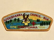 Boy Scout Susquehanna Council Patch 20th Anniversary Free S&H