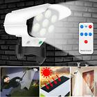 Dummy Outdoor Camera Fake Security CCTV Cam with Solar Motion Sensor LED Light