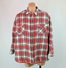 VTG 90s McGregor Trucker plaid flannel check shirt Jacket Quilted Lining 2XL