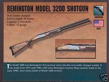 REMINGTON MODEL 3200 SHOTGUN 12 Gauge Atlas Classic Firearms Gun PHOTO CARD