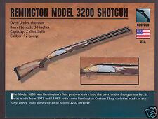 REMINGTON MODEL 3200 SHOTGUN 12 Gauge Atlas Classic Firearms Gun PHOTO CARD