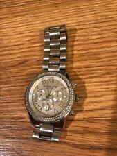 Michael Kors Women's Layton Chronograph Silver Dial Watch MK5667