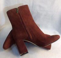 Michael Kors Women's Burgundy Brown Suede Ankle Boots Booties SH16F Sz 8.5 $395