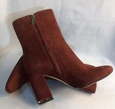 Michael Kors Women's Burgundy Brown Suede Ankle Boots Booties SH16F Sz 8.5 $395