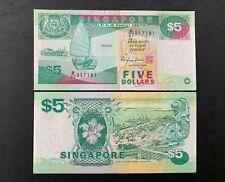 Singapore - 3rd $5  ( 1984-1995  Ships ) | UNC * RM25 each *