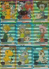 New listing Digimon Preview 1999 Upper Deck Lot Of 15 Parallel Prism Cards