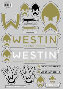 Westin Stickers A4 Bogen Aufkleber Westinfishing Shadteez Bullteez