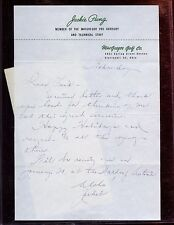 Vintage Jackie Ping Signed Letter With Mailing Envelope