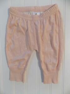 NWOT Hanna Andersson Girls 60 3-6 Month Pink ORGANIC PIMA COTTON Wiggle Pants