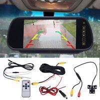 "CAR REAR VIEW KIT 7"" LCD MIRROR MONITOR + IR NIGHT VISION REVERSING CAMERA 4LED"