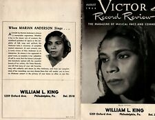 Marian Anderson,Rca Victor Records,August 1944 Promo Booklet,Singers, Rare!