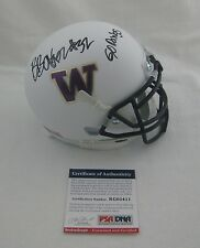 BUDDA BAKER signed WASHINGTON HUSKIES Mini Helmet w/GO DAWGS - PSA RookieGraph