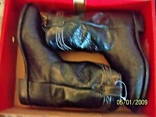 JUSTIN BROCK ROPER BLACK SMOOTH BOOT 12 EE NEW IN BOX