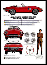 A3 - Wall POSTER Print Art - E-Type jaguar 1969 Retro Vintage Car Advert - #1