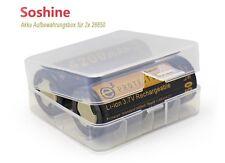 Plastik Box für 2x 26650 Transparent