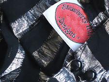 STRAWBERRY HILL SilverSheerBlackGoldStripedDropWaistSize8