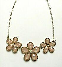 Collier fleurs strass Japon Neuf superbe flower necklace new