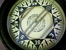 Antique 1896 Brass Nautical Ship Compass Chas.Hutchinson - Axial Balance Boston
