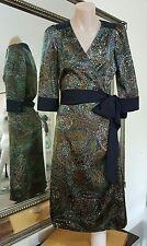 Leona by Leona Edmiston dress.SzXS.Satin wrap paisley sheen.Excellent condition