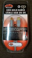 Geek Squad 10' ft USB Gold Cable A-B NEW SEALED GS-10UAB