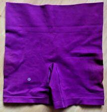 LULULEMON Sculpt Shorts Regal Plum size 8 Hot Yoga Cross Training Run Cycle EUC