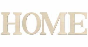 Kleenes Traumhandel Schriftzug HOME - Buchstaben bis 60 cm Hoch - Holzbuchstaben